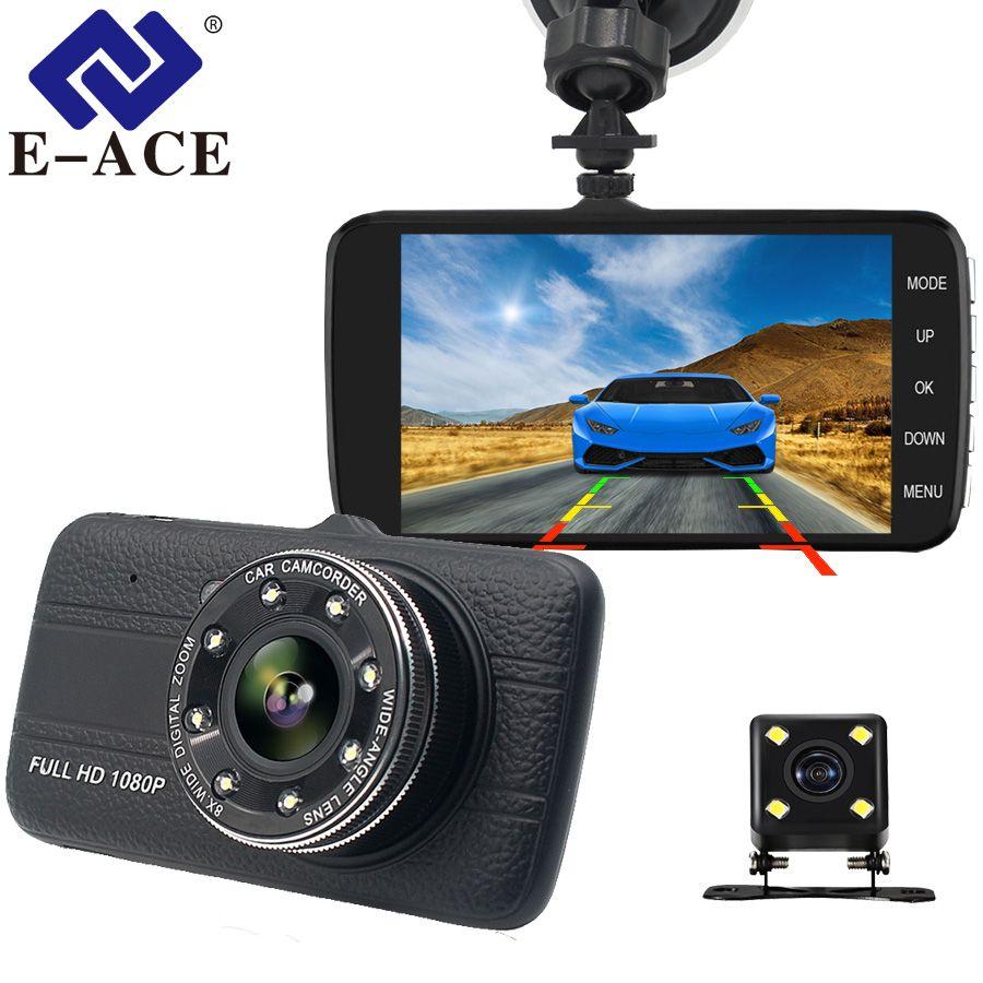 E-ACE B16 voiture Dvr 4.0 pouces Dash Cam avec caméra de vue arrière Full HD 1080P double lentille enregistreur vidéo Auto Registrars véhicule Dashcam