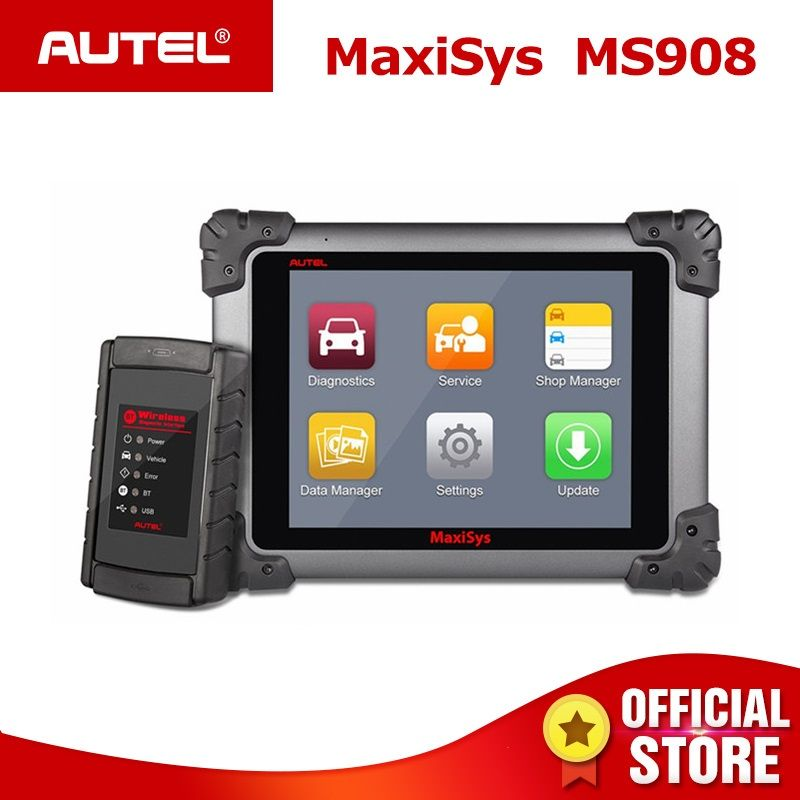 Autel Maxisys MS908 OBD2 Automotive Diagnostic Tool Scanner Analyse System mit Alle Systeme OBDII ECU Erweiterte Codierung PK MS908P
