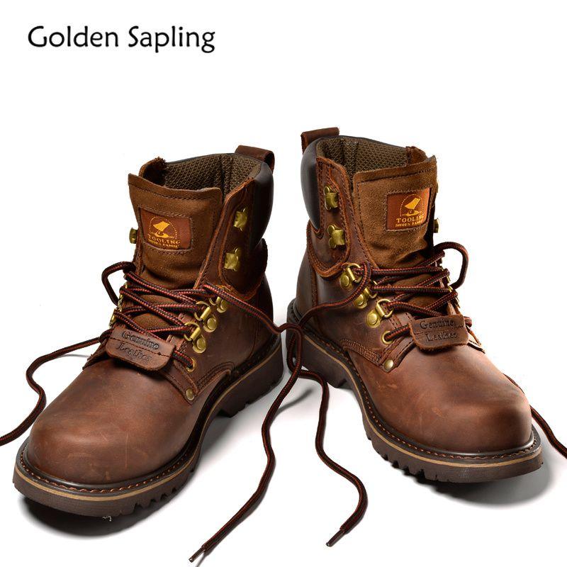 Goldene Sapling Wandern Schuhe Männer Trekking Stiefel herren Sneakers Atmungs Echtem Leder Gummi Taktische Schuhe Sport Mann Sneaker