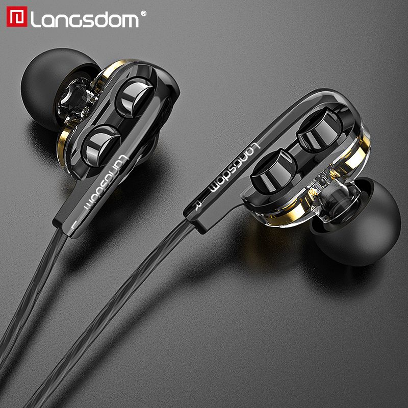 Brand Langsdom D4C Earphone Headphones with Mic Hifi Earphones for Phone Xiaomi Type C Ear phones auriculares fone de ouvido