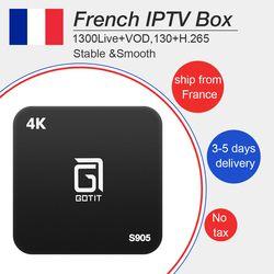 Gotit s905 android tv box 7.1 avec Français Arabe Belgique iptv 1300 Livetv + vod pour smart tv box iptv boîte bateau libre de France