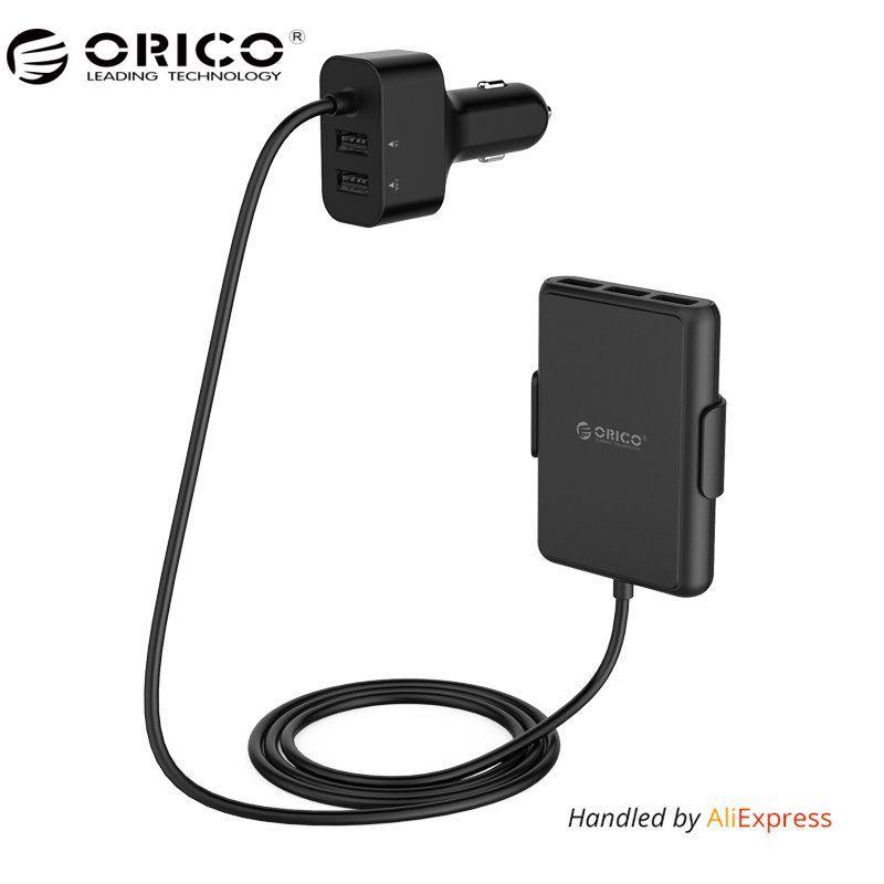 ORICO 5 Ports QC3.0 USB Chargeur De Voiture Universel USB Rapide Adaptateur 52 W pour MPV Voiture Mobile Téléphones Tablet PC 12 V/24 V Disponible Noir