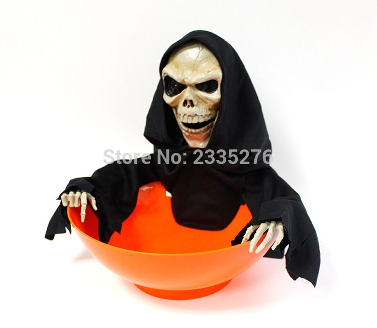 1Piece Grim Reaper Candy Bowl For Trick-or-Treaters Halloween Decor Horrible Skull