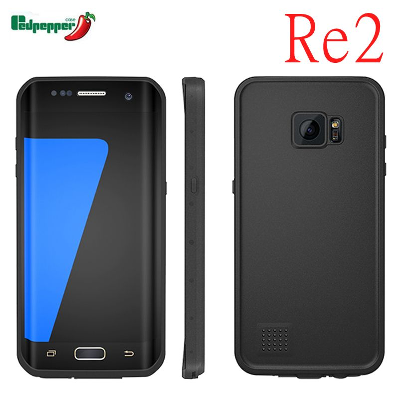 Redpepper RU/USA Re2 Diving Waterproof Case For Samsung galaxy s7 s7edge Soft Silicone Rubber Shockproof Dustproof Cover