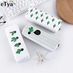 ETya Frauen Reisen Kultur Kosmetische Tasche Bleistift Bilden Make-Up Fall Lagerung Pouch Geldbörse Organizer Kaktus druck Studenten taschen