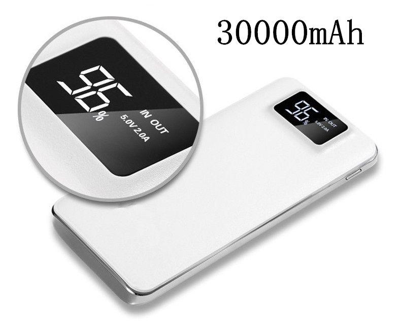 2018 NOUVELLE Banque de Puissance 30000 mah Pour Xiao mi mi 2 USB PowerBank Portable Chargeur Externe Batterie Poverbank Pour iPhone 7 6 5 4X8
