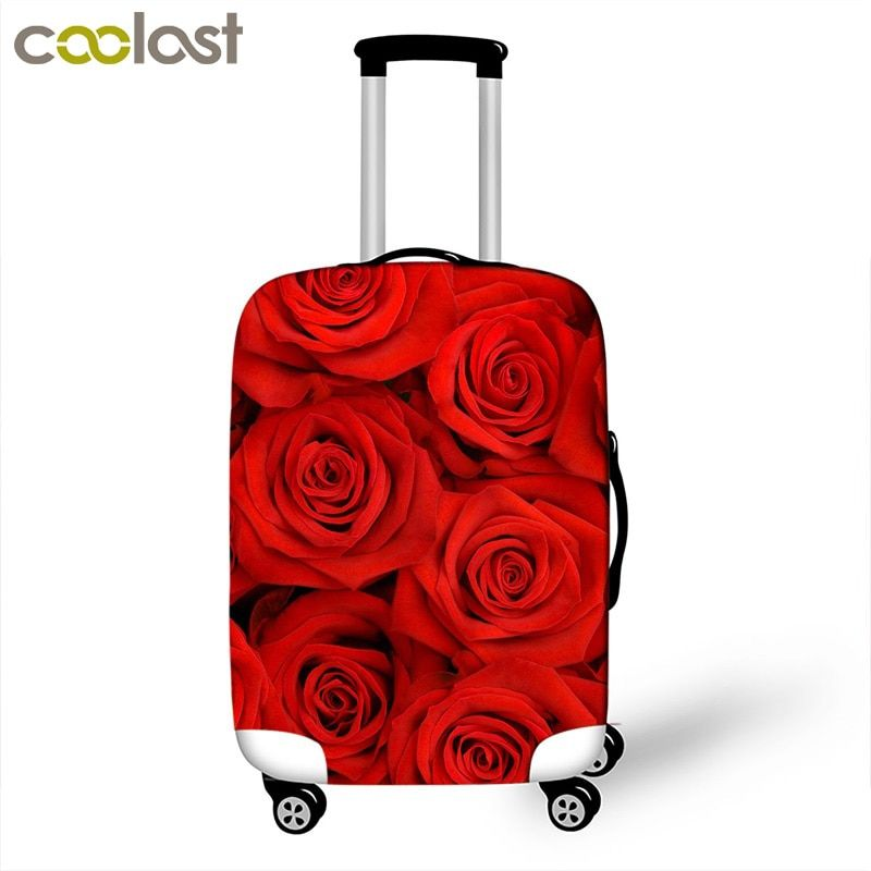 Beautiful Flowers Luggage Protective Covers For Travel 18 to 28 Inch Suitcase Cover Elastic Dust Protection Cover Trolle Luggage