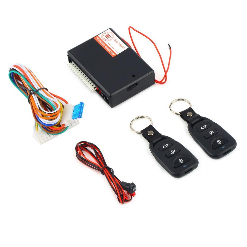 Universal Auto Alarmanlagen Auto Fernbedienung Zentralverriegelung Kit Türschloss Fahrzeugschlüsselloses Zugangssystem Zentralverriegelung mit Fernbedienung