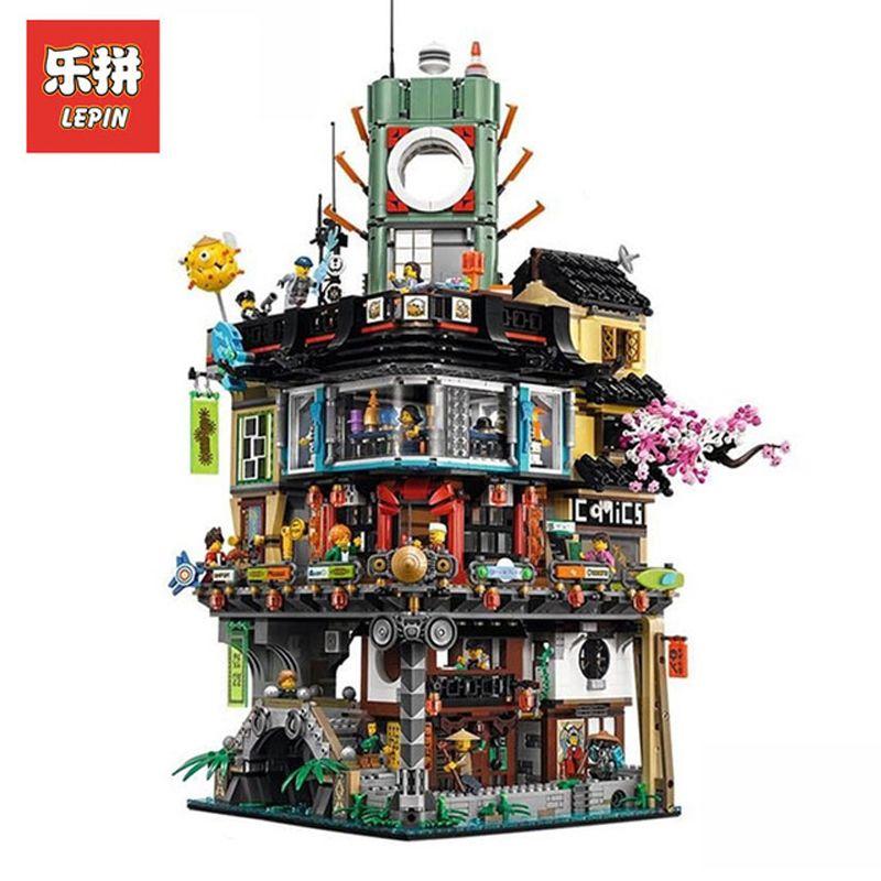 Lepin 06066 4932Pcs Ninja Movie Figures Ninjagoing City Set Model Building Kits Blocks Bricks Educational Toys Compatible 70620
