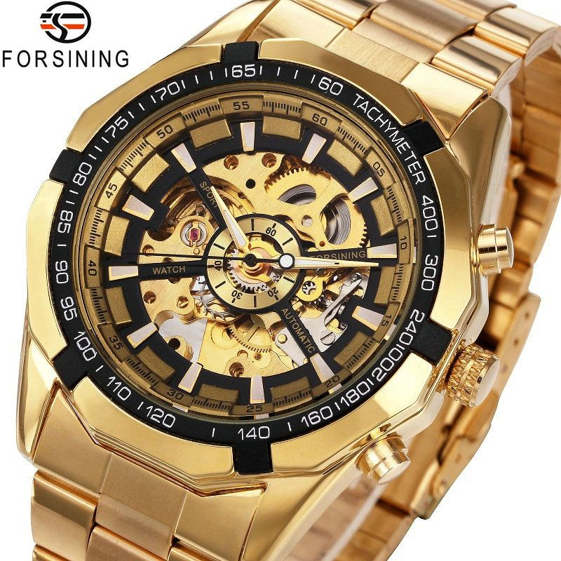 Winner Watch Men Skeleton Automatic Mechanical Watch Gold Skeleton Vintage Man Watch Mens FORSINING Watch Top <font><b>Brand</b></font> Luxury