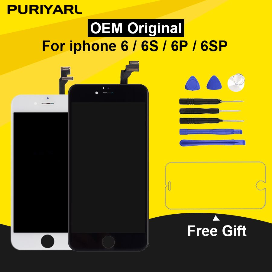 Original Pantalla LCD For iPhone 6 6S Display Screen For iPhone 6 Plus 6S Plus LCD With 3D Touch Screen Replacement Assembly
