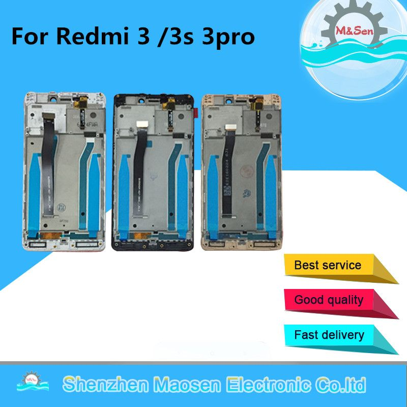 M&Sen For Xiaomi Redmi 3 Hongmi 3 Redmi 3S Redmi 3 Pro LCD screen display+touch digitizer with frame Free shipping