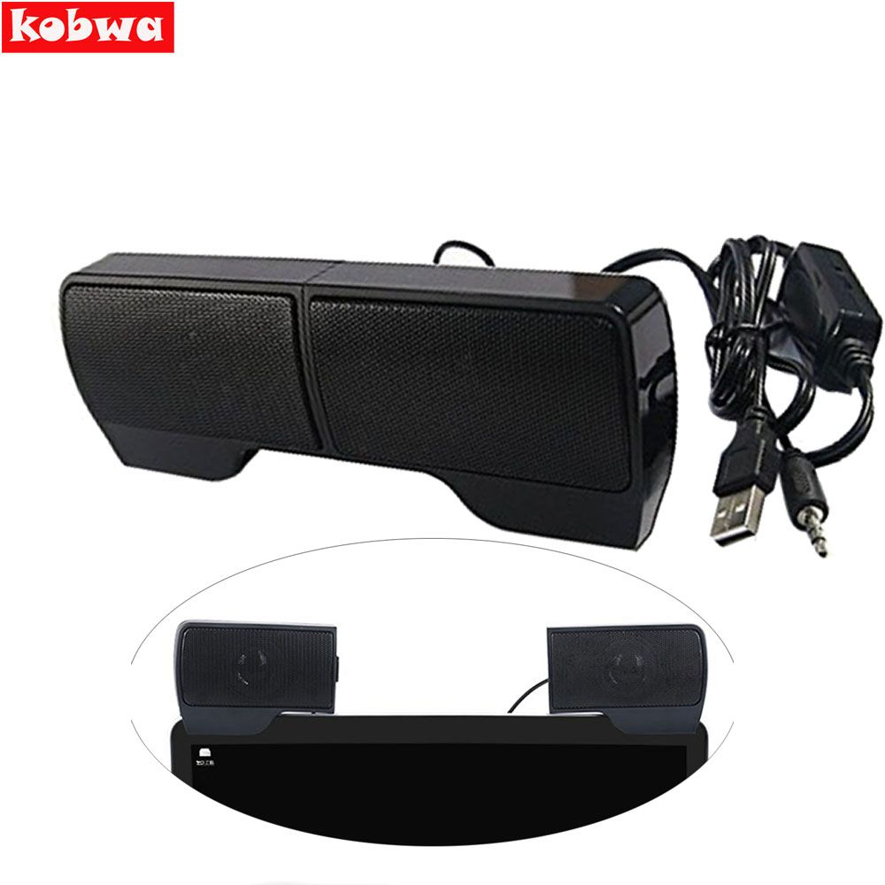 2017 Clip on USB Stereo Speakers line Controller hot sale 1 Pair Mini Portable Soundbar Laptop Notebook PC Computer with Clip