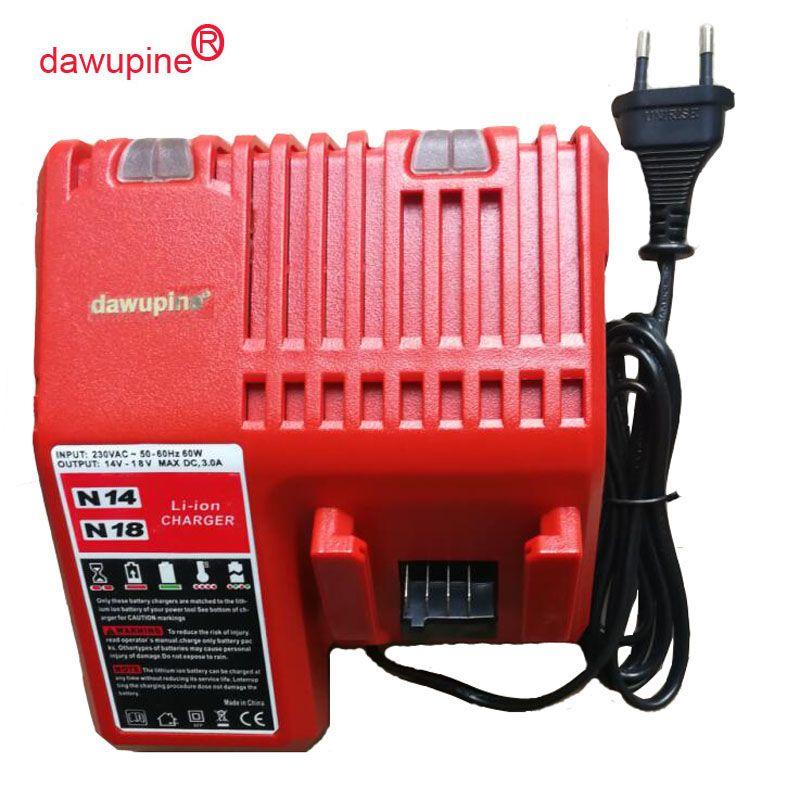 dawupine M18 Li-ion Battery Charger For Milwaukee 14.4V 18V C18C C1418C 48-11-1815/1828/1840 M18 M14 Series Lithium-ion Battery