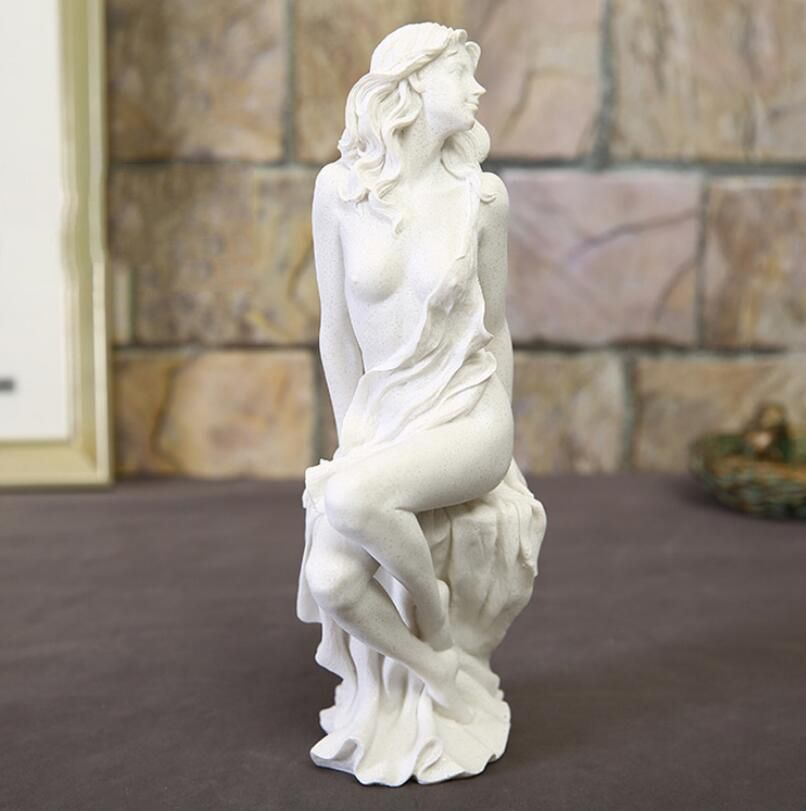 Home Decoration Fashion Abstract White Sandstone Beauty Sculpture Ornament Handmade Wedding Decoration Statue Gift Sculpture