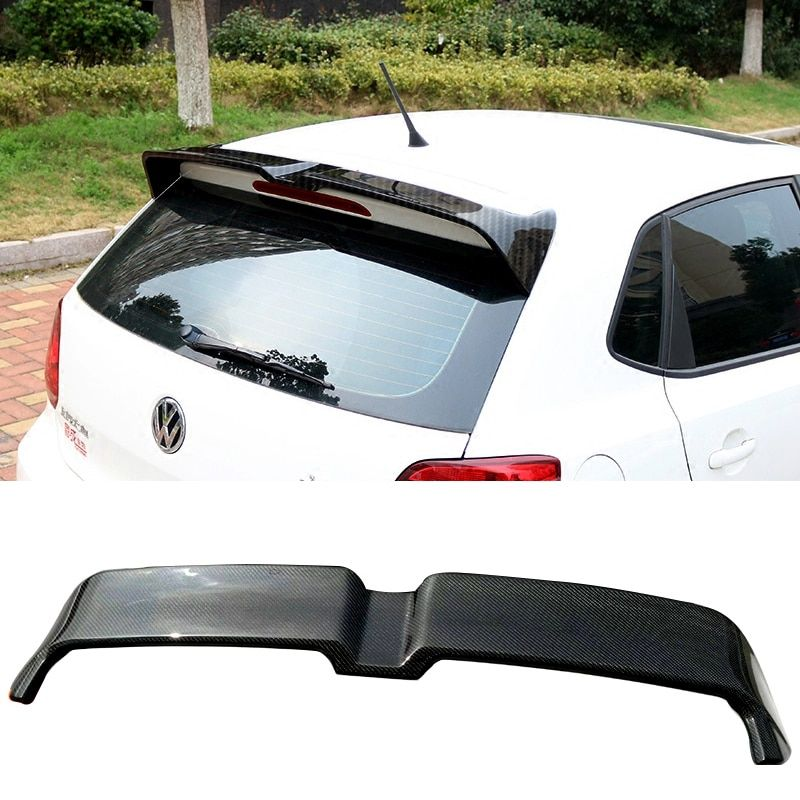 For Volkswagen POLO 2010-2016 ABS spoiler Primer or Carbon Fiber Decorative pattern rear wing spoiler