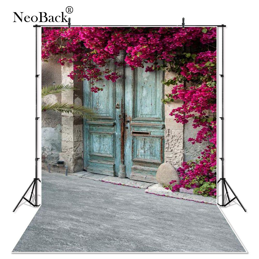 Vinyle tissu Floral porte de jardin arrière-plans photographiques enfants photographie Studio mariage Portrait Photo décors P0632