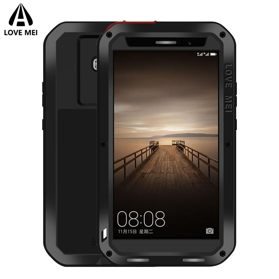 Love Mei Metal Armor Case For Huawei Mate 8 Mate 9 Cover Aluminum Shockproof Waterproof Case For Huawei Mate9 Mate8 Outdoor Case