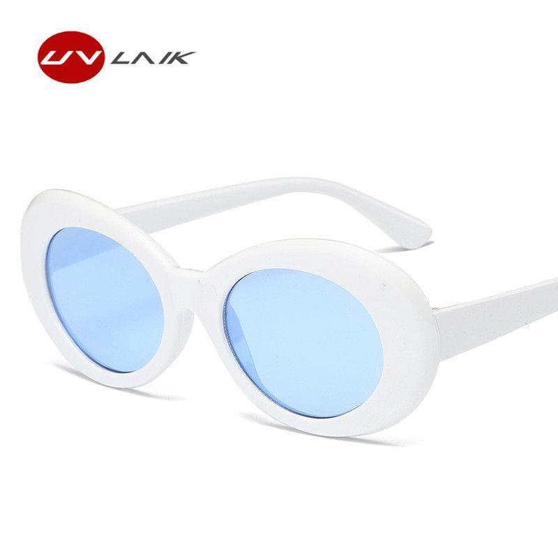 UVLAIK Männer Frauen Clout Brille Gläser UV400 Gespiegelt NIRVANA Kurt Cobain Sonnenbrille Klassische Fahion Weiblich Männlich Sonnenbrille