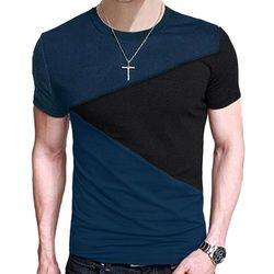 Fashion Patchwork Striped Men's T-Shirt Losse Fit t shirt casual tshirts Men Short Sleeve Tee Tops  M-2XL TX116-E