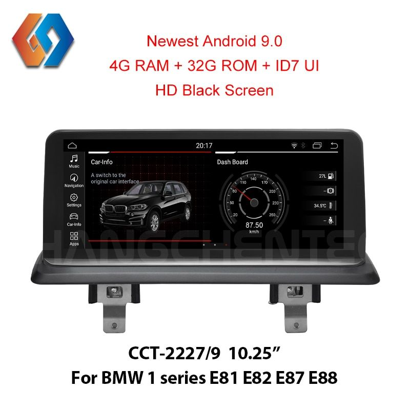 ID7 Android 9.0 Bildschirm für BMW 1 serie E81/E82/E87/E88 Auto Multimedia Radio mit 4G ram System Eingebaute WiFi BT iDrive GPS Navi