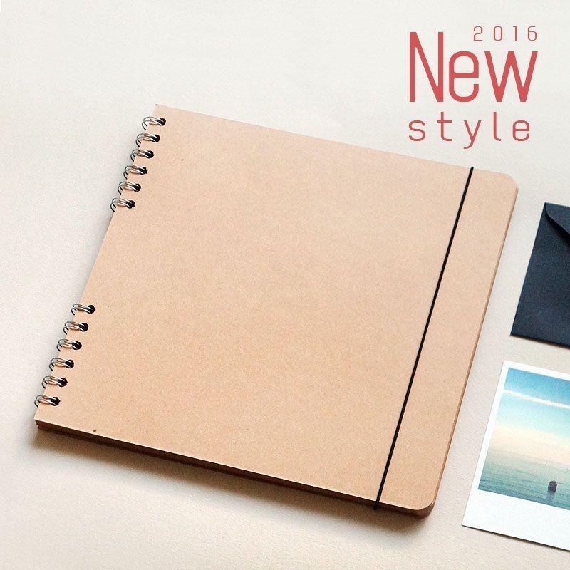 Square Craft paper Cover Creative Gift Handmade Diy Self-Adhesive FIlm Large Capacity Fotoalbum Photo Album Photo Album B