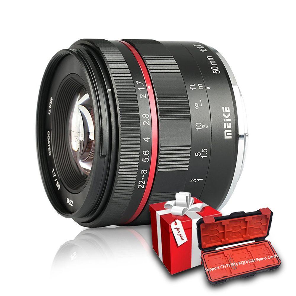 Meike 50mm F1.7 Manueller Fokus Objektiv für Sony alpha E-mount A6300 A6000 A6500 NEX3 NEX7 A7 A7II a7III Volle Rahmen Spiegellose Kamera