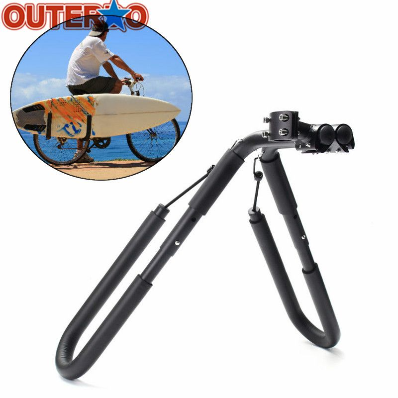Bike Mount Surfboard Wakeboard Bicycle Racks Mount to Seat Posts 25 to 32mm Cycling Surfing Carrier Fits Surfboards Up to 8