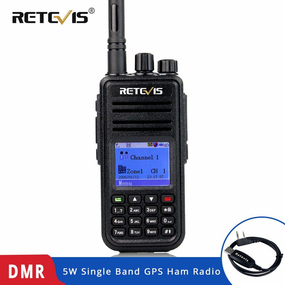 Rechapé RT3 DMR Radio numérique (GPS) talkie-walkie UHF (ou VHF) jambon Radio Amador émetteur-récepteur de poche même avec TYT MD 380 MD-380