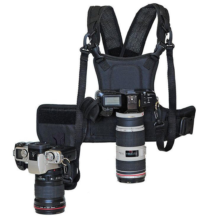Carrier II Multi Dual 2 caméra de transport système de harnais de poitrine gilet sangle rapide avec étui latéral pour Canon Nikon Sony Pentax DSLR