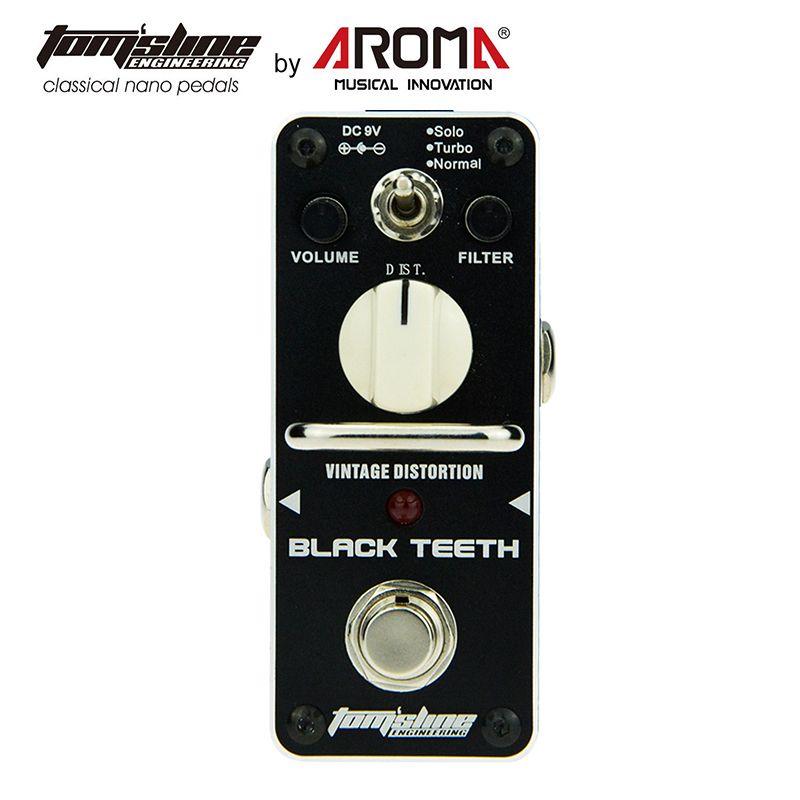 Pédale de distorsion effet guitare noir dents chaudes lisse large gamme effet Vintage son 3 Versions de Proco Rat fausti