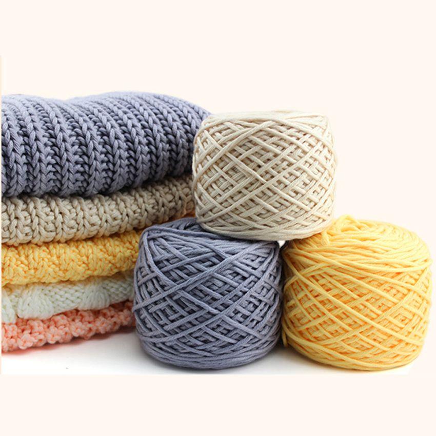400 grammes de fil épais de coton de lait pour tricoter l'écharpe pour tricoter à la main, 2 boules, différentes couleurs disponibles