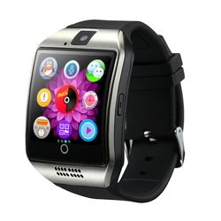 2017 MTK6261 Montre Smart Watch Q18 avec Sim et Fente Pour Carte TF Push Message Caméra Bluetooth Connectivité Android Téléphone mieux que DZ09 A1