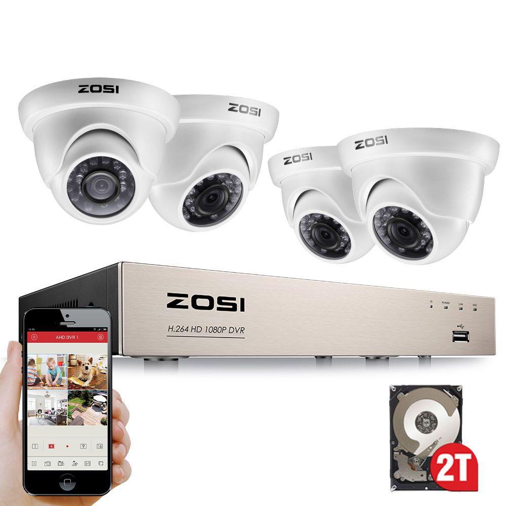 ZOSI 8CH VOLLE WAHRE 1080 P HD-TVI DVR Recorder HDMI Mit 4X 1980TVL Indoor outdoor Überwachung Sicherheit Dome Kamera System