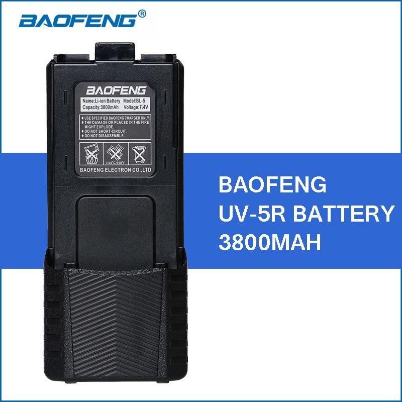 Baofeng UV-5R Li-ion Battery 3800mAh Walkie Talkie Accessories for Baofeng UV5R Portable Walkie Talkies Parts UV 5R Battery