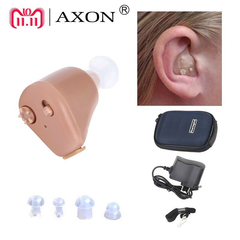 Hearing Aid Rechargeable Mini Hearing Aids Axon K-88 Invisible Hear Clear for the Elderly Deaf Ear Care Tools <font><b>Drop</b></font> Shipping