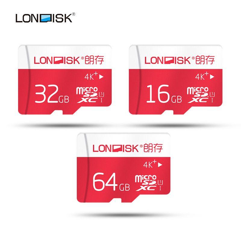 Londisk 2016 новинка 16 Гб 32 Гб 64 Гб карта памяти/Micro SD карта 64 Гб флэш карты SDXC Microsd UHS-3 для смартфона