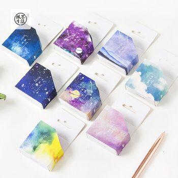 7 Meters Long Fantastic Galaxy Star Sky Paper Washi Tape Masking Tape DIY Craft Stick Label School Office Supply