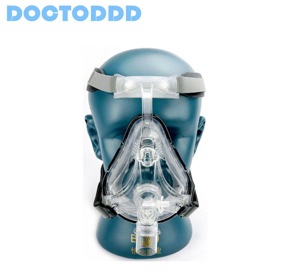 Doctodd FM1 masque facial complet CPAP Auto CPAP masque BiPAP avec couvre-chef gratuit blanc S M L pour l'apnée du sommeil OSAHS OSAS ronflement