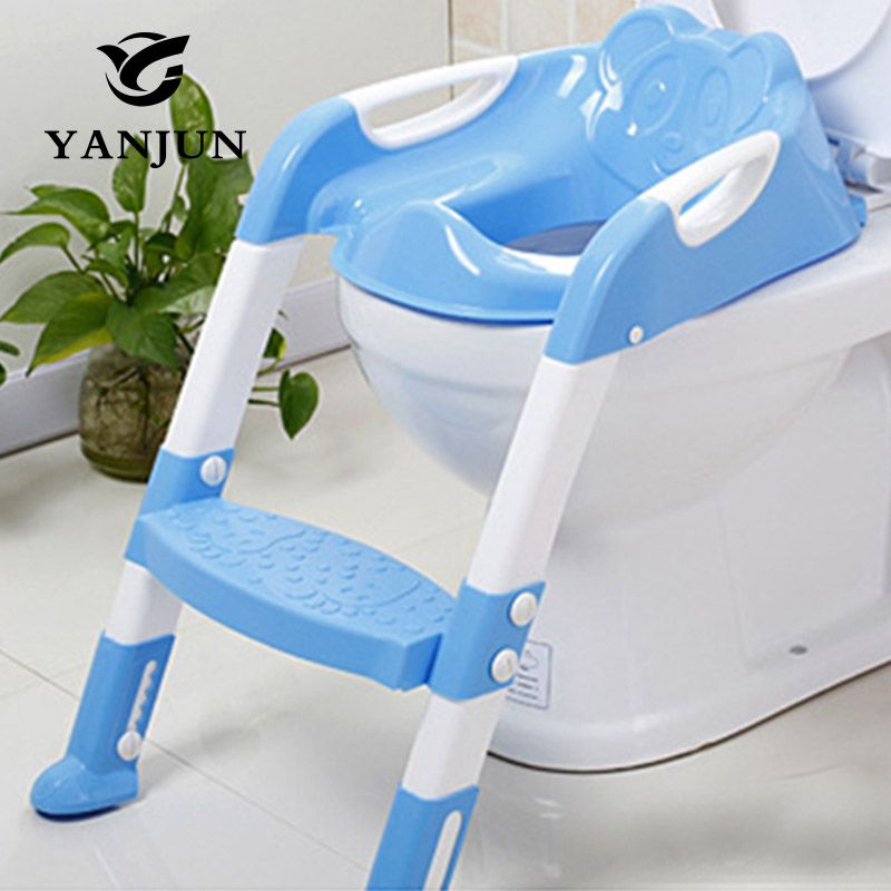 YANJUN Baby <font><b>Toilet</b></font> Seat Folding Potty <font><b>Toilet</b></font> Trainer Seat Chair Step with Adjustable Ladder infant Potty Children YJ-2081