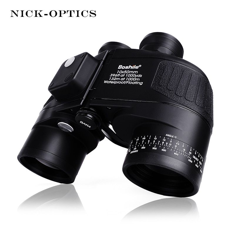 Boshile Military Binoculars 10X50 Rangefinder &Compass Telescope Binocular lll Night vision HD Powerful Binoculars For Hunting