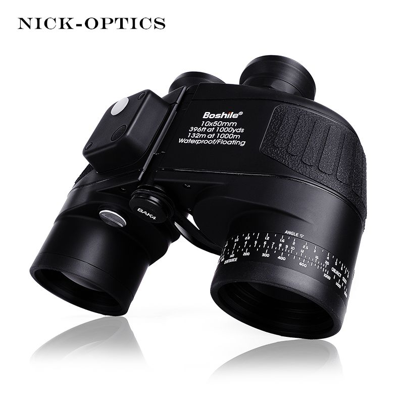 Boshile Military Binoculars 10X50 Rangefinder &Compass Telescope Binocular lll Night vision HD Powerful Binoculars For Hunting