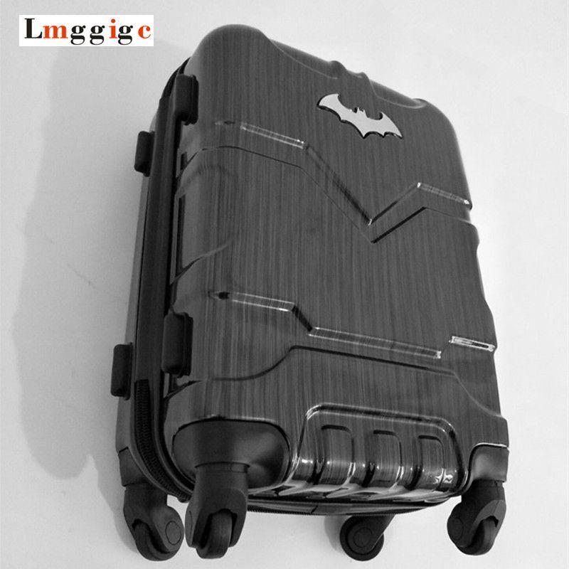 Batman Luggage bag ,Rolling Wheels Suitcase with Lock, Men's High-capacity Plastic hardshell Travel Box,20