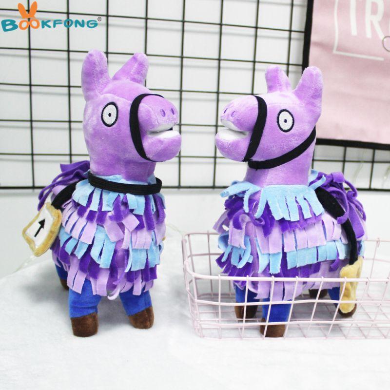 Extra Limited 1$ coupon Fortnite Troll Stash Llama Plush Toy Game Alpaca Rainbow Horse Stash Stuffed Doll Toys Kids Gift 20/27cm