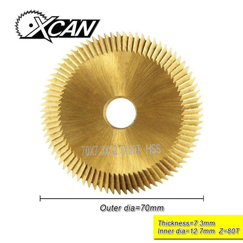 XCAN 1 pc 70*7.3*12.7mm 80 T souper clé machine de découpe lame double phase titanisation cutter clé machine lame serrurier outils