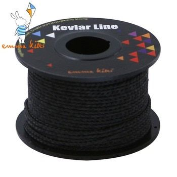 100ft 500lb Black Kevlar Line Outdoor Braided Kite Line With Core for Large Kite Flying Outdoor Fishing Line Survival