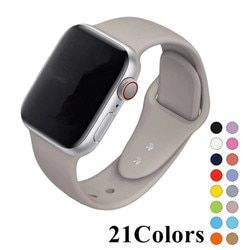 Esporte pulseira de Silicone Macio Série 4 3 2 1 para apple watch 42mm 38mm pulseira relógio de pulso banda pulseira Para iwatch 4/3/2/1