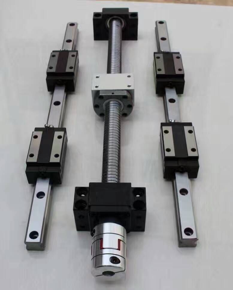 12 HBH20CA Square Linear guide sets + 4 x SFU1605-400/800/1200/1200mm Ballscrew sets + BK BF12 +4 jaw Flexible Coupling Coupler