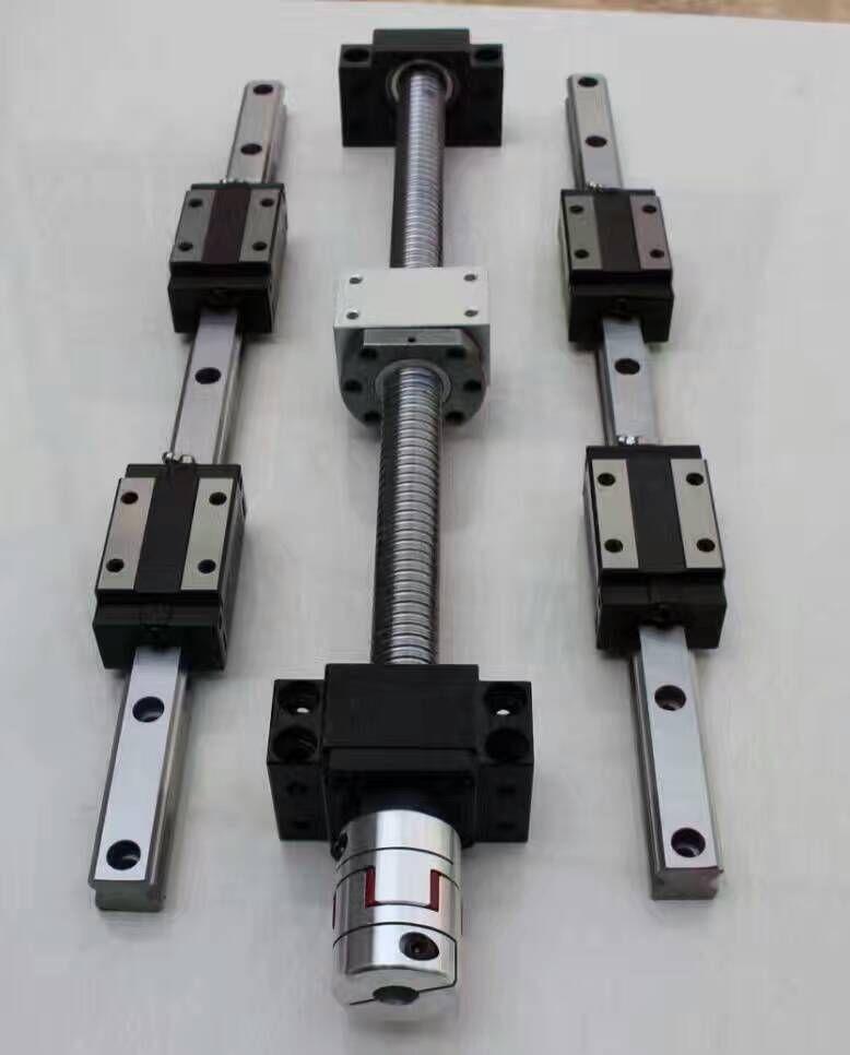 12 HBH20CA Square Linear guide sets + 4 x SFU1605-400/800/1200/1200mm Ballscrew sets + BK BF12 +4 jaw Flexible Coupling Coupler