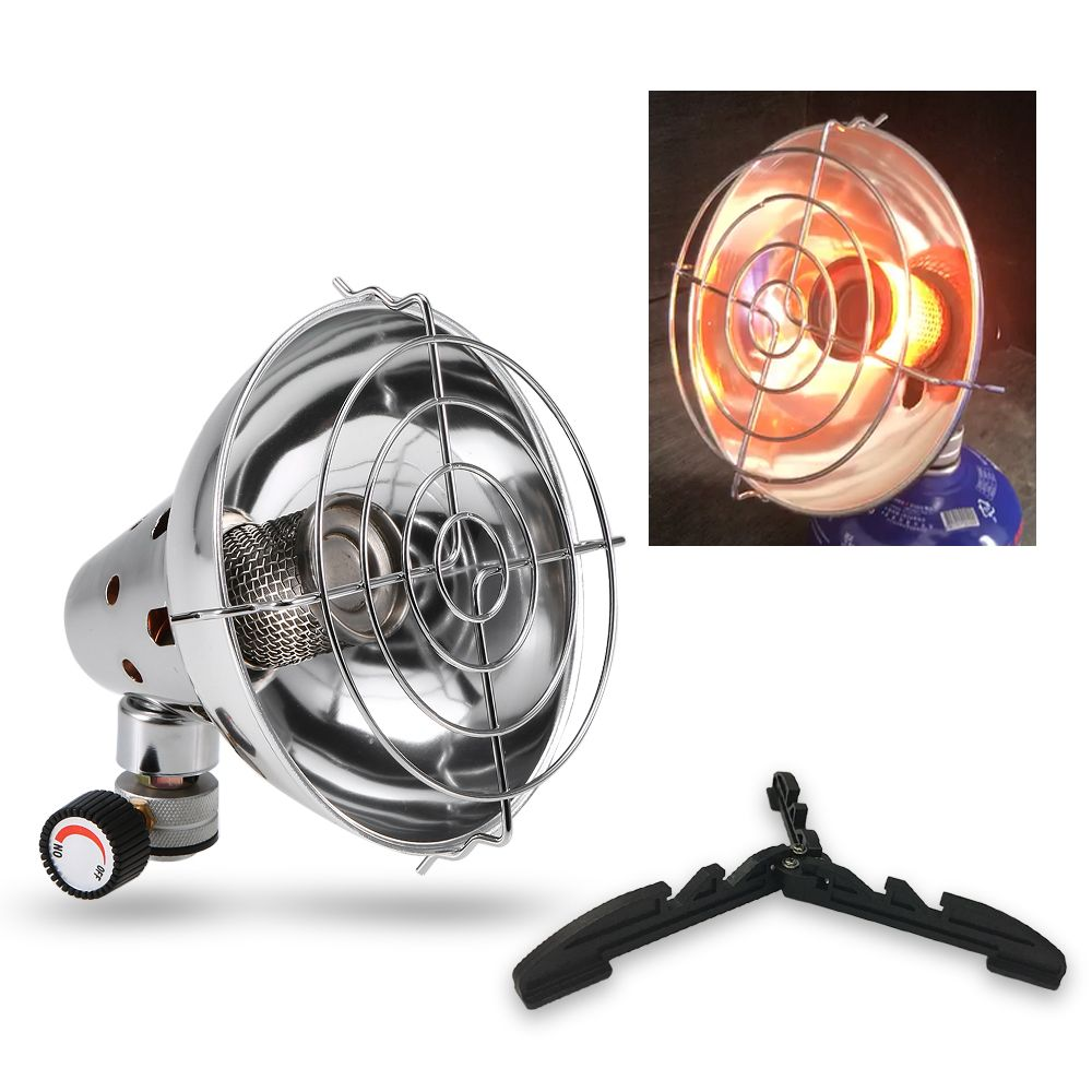 Outdoor Camping Gas Stove Heater Warmer Heating with Stand Portable Gas Stove Outdoor Fishing Hunting Propane Butane Heater